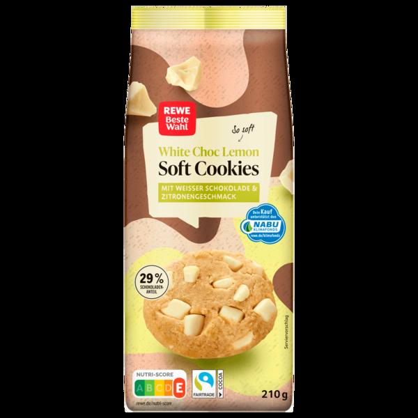 REWE Beste Wahl Soft Cookies American Style White Choc Lemon 210g