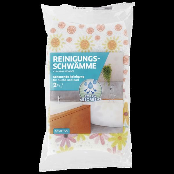 Vivess Reinigungsschwämme für Küche und Bad 2 Stück