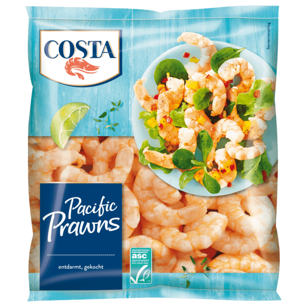 Costa Pacific Prawns Natur 250g
