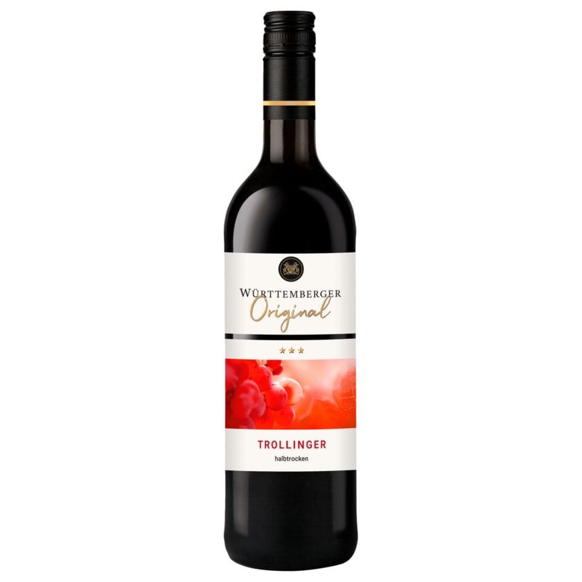Württemberger Rotwein Trollinger QbA halbtrocken 0,75l