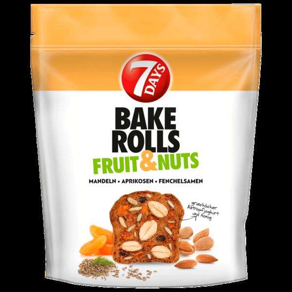 7 Days Bake Rolls Fruit & Nuts Mandeln Aprikosen Fenchelsamen 80g