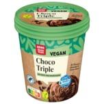 REWE Beste Wahl Choco Triple Eis vegan 500ml