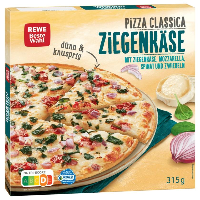 REWE Beste Wahl Pizza Classica mit Ziegenkäse, Mozzarella, Spinat und Zwiebeln 315g