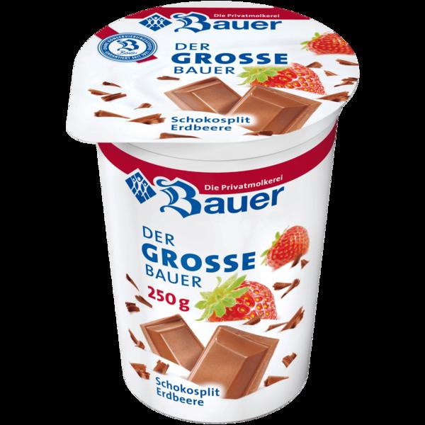 Bauer Joghurt mild Schokosplit Erdbeere Saisonsorte 250g
