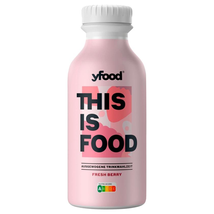 YFood Trinkmahlzeit Fresh Berry 500ml