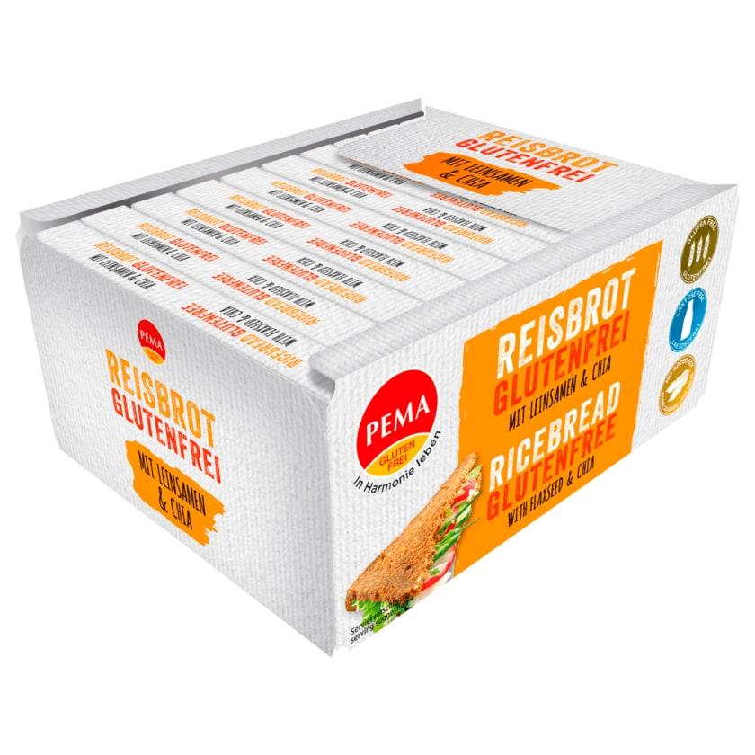 Pema Brotbox Reisbrot mit Leinsamen glutenfrei 500g