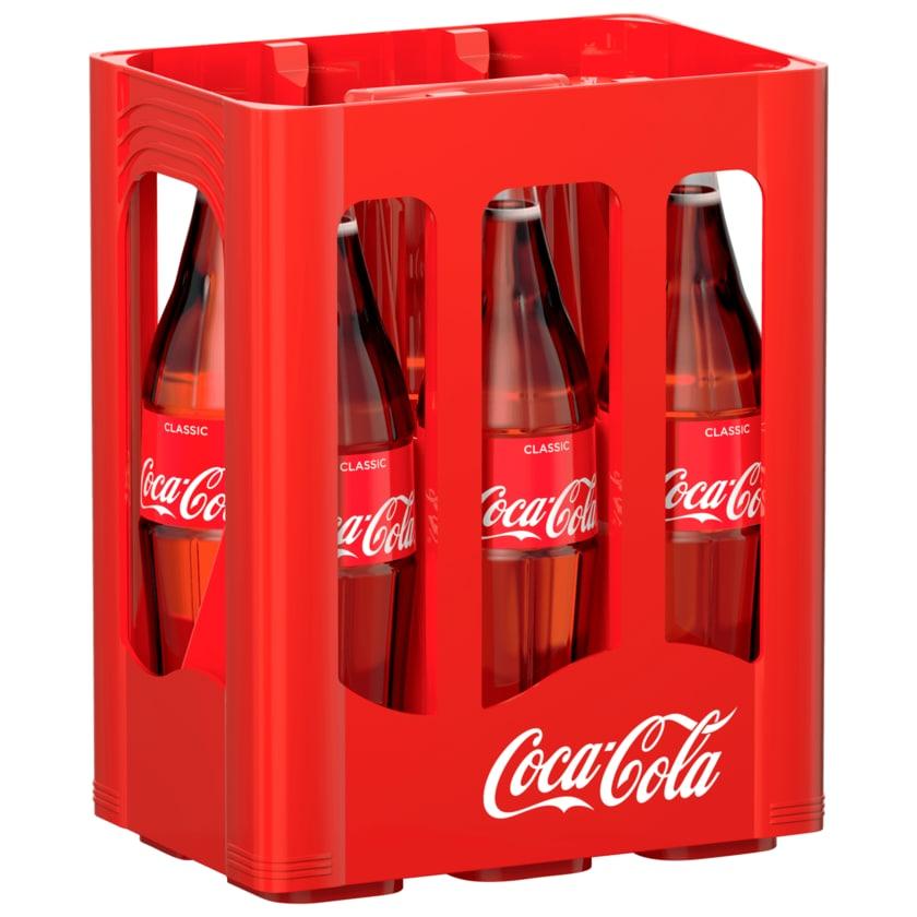 Coca-Cola Glasflasche 6x1l