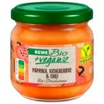 REWE Bio Streichcreme mit Kichererbse, Paprika und Chili