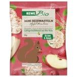 Rewe Bio Mini Reiswaffel Apfel Himbeer 35g