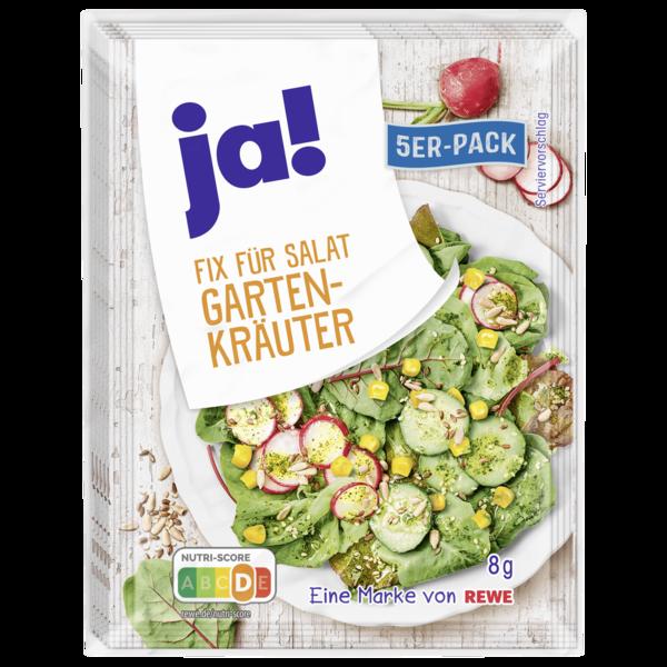 ja! Fix für Salat Garten-Kräuter 5x8g