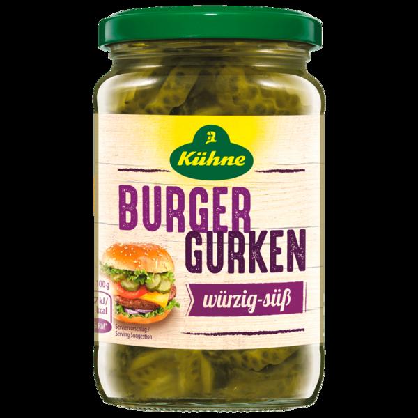 Kühne Burger Gurken würzig- süß 330g