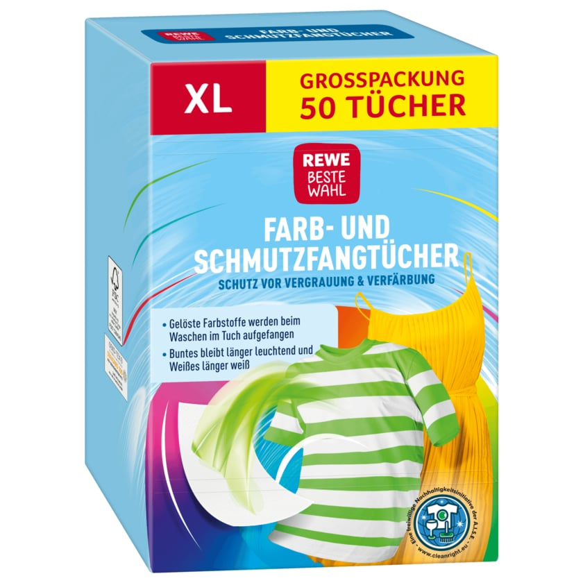 Rewe Farbfangtuch XL 50St