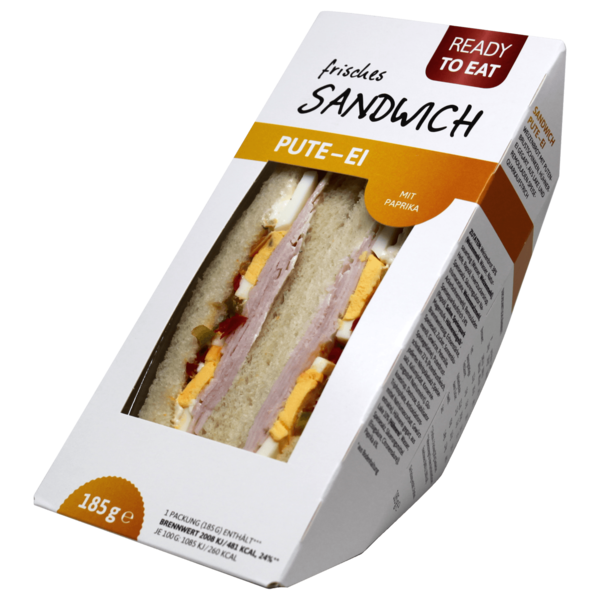Ready to eat frisches Sandwich Pute-Ei 185g