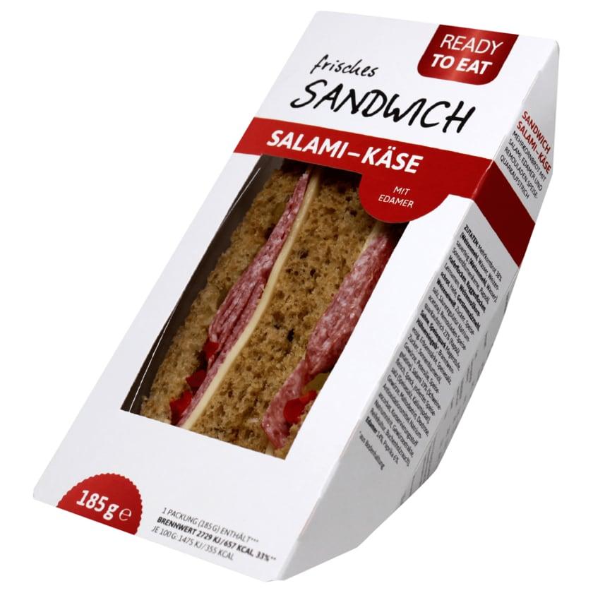 Ready to eat frisches Sandwich Salami-Käse 185g