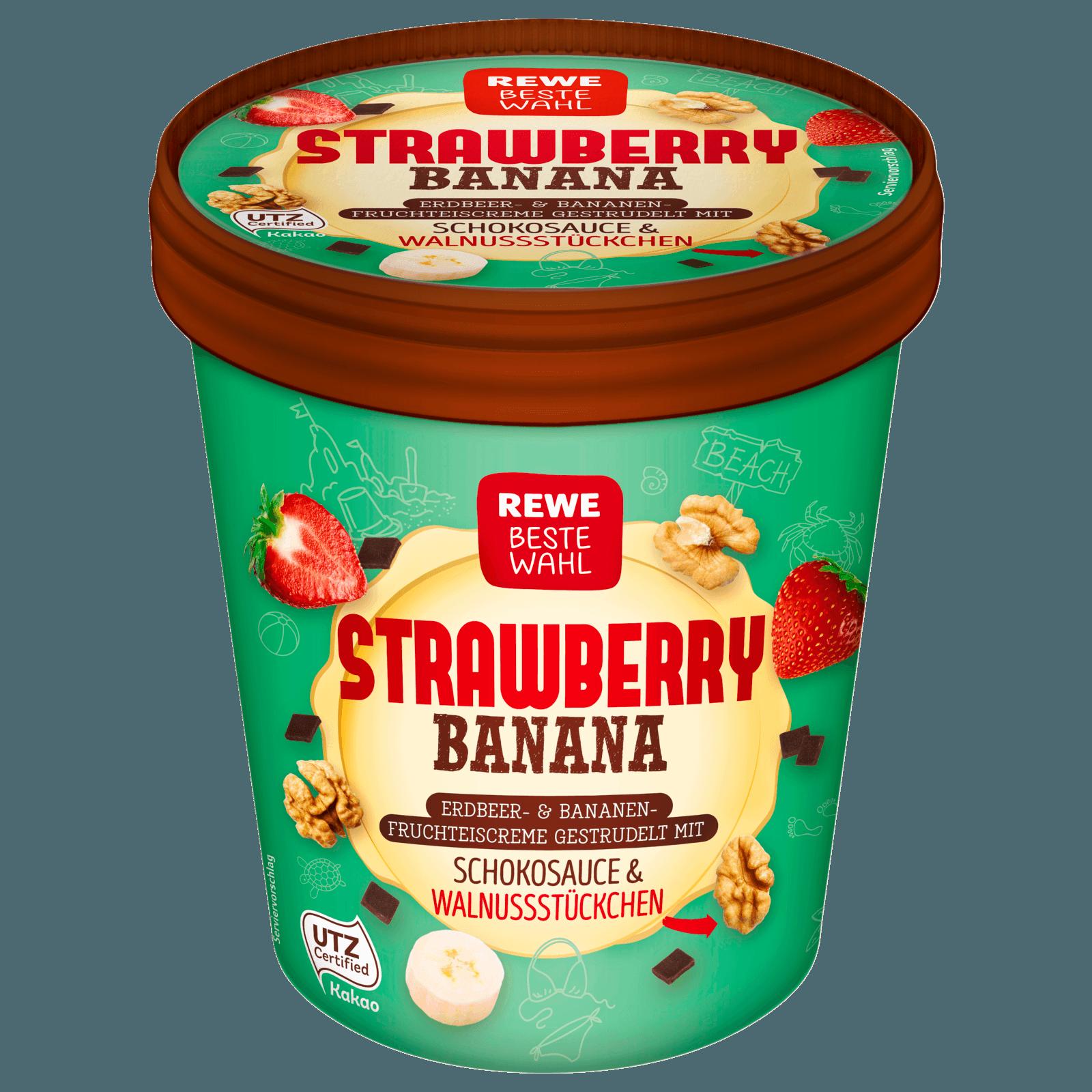 Rewe Beste Wahl Strawberry Banana 500ml Bei Rewe Online Bestellen
