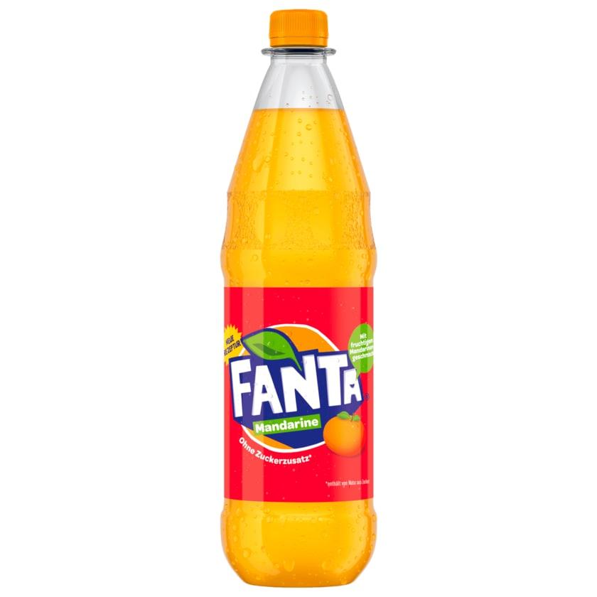 Fanta Mandarine ohne Zuckerzusatz 1l