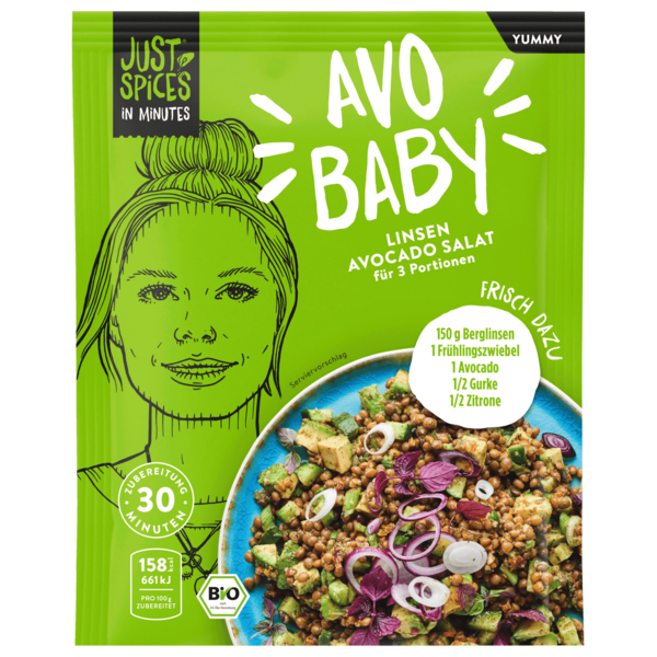Just Spices In Minutes Yummy Bio Avocadosalat 30g