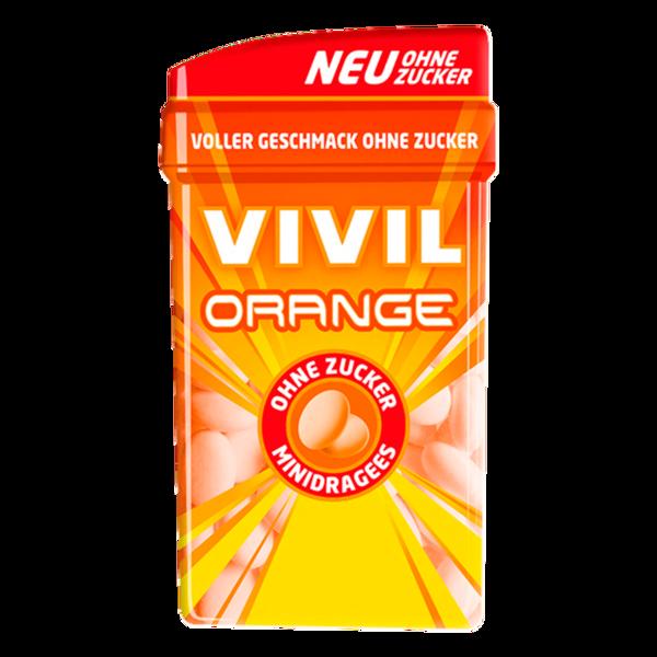 Vivil Orange Minidragees ohne Zucker 49g