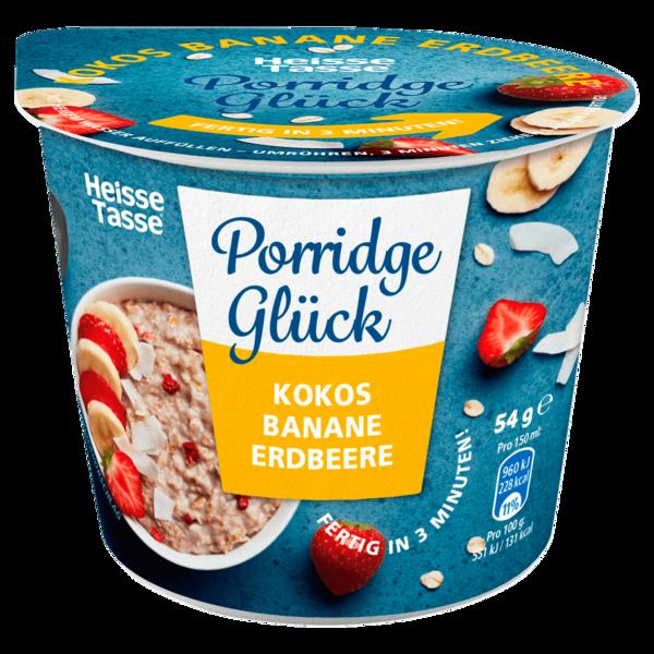 Erasco Heisse Tasse Porridge Glück Kokos Banane Erdbeere 54g
