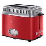 Russell Hobbs Kompakt-Toaster 21680-56 Retro Ribbon Red 1300W