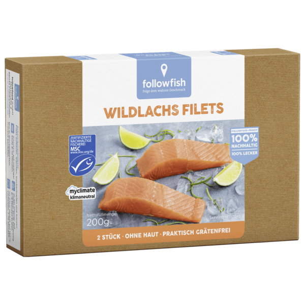 Followfish Wildlachs Filet ohne Haut 200g
