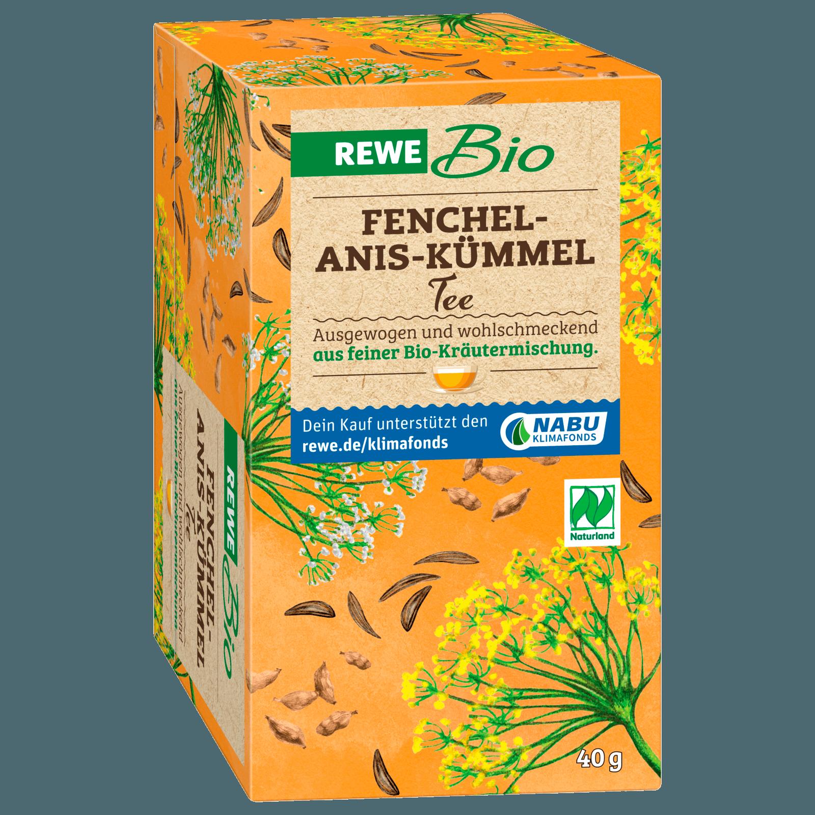 Rewe Bio Fenchel Anis Kummel Tee 40g Bei Rewe Online Bestellen