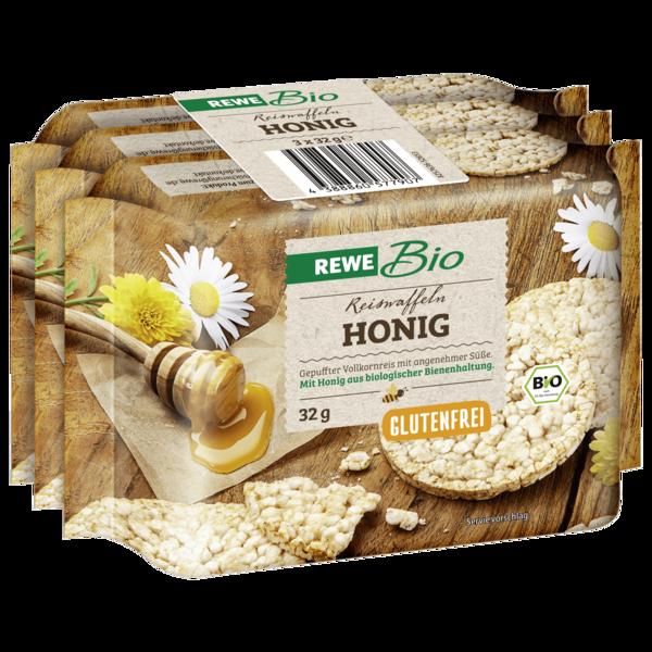 REWE Bio Reiswaffeln mit Honig 3x32g