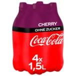 Coca-Cola Cherry ohne Zucker 4x1,5l
