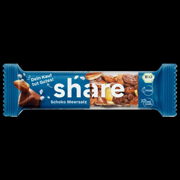 Share Bio-Riegel Schoko Meersalz 35g