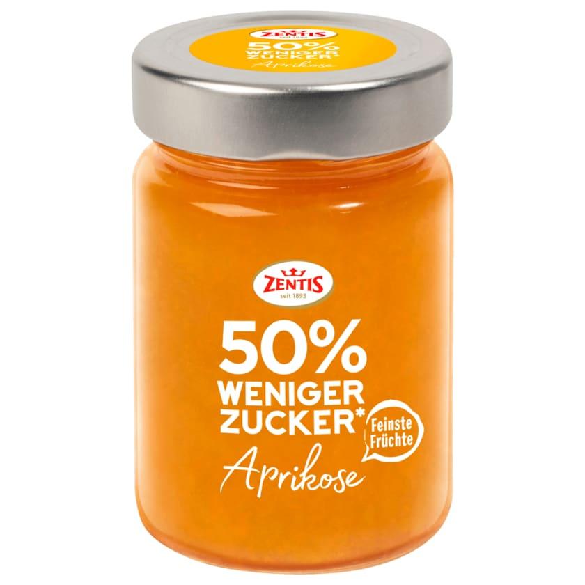 Zentis Fruchtaufstrich Aprikose 50% weniger Zucker 195g