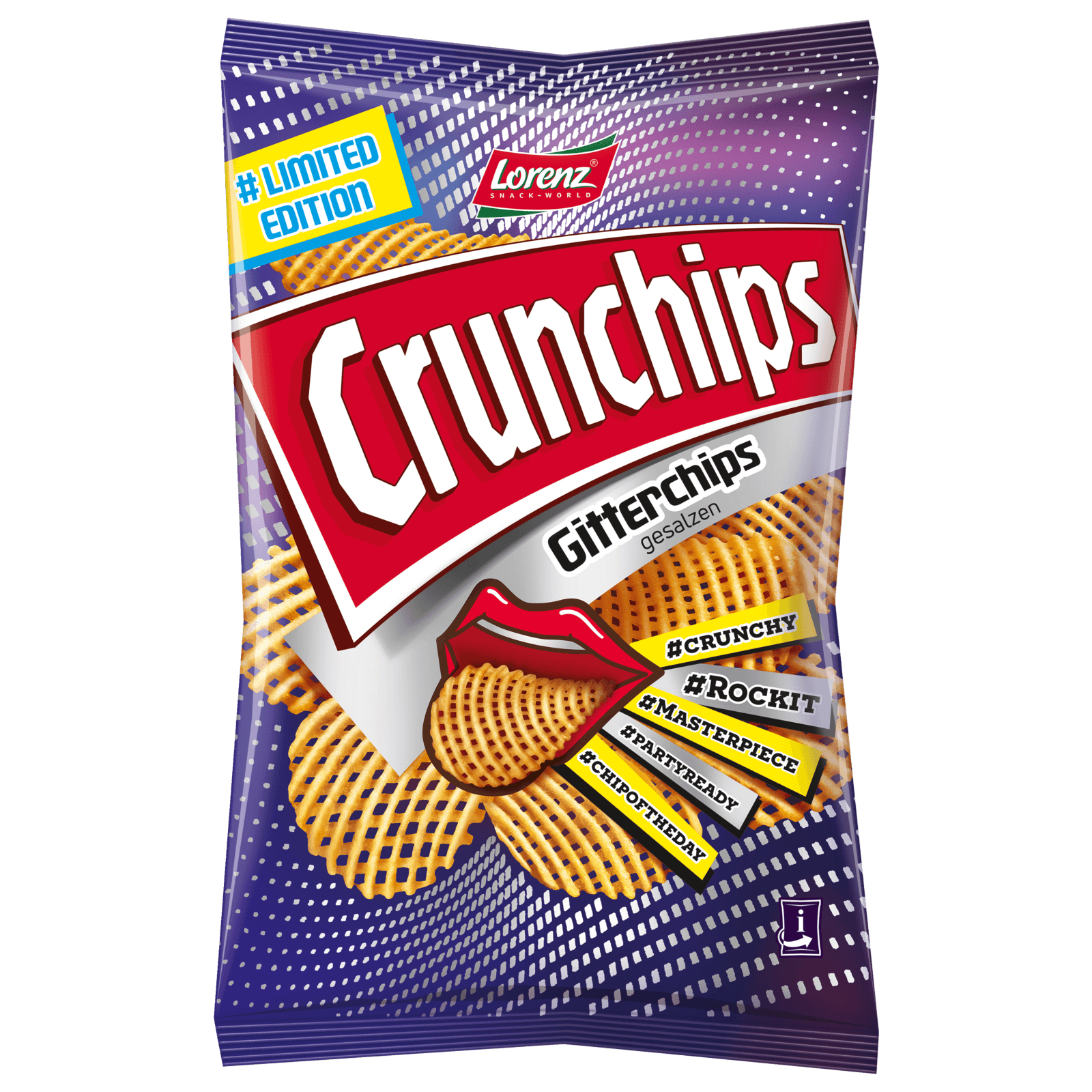 Lorenz Crunchips Gitterchips gesalzen 150g
