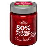 Zentis Fruchtaufstrich Sauerkirsche 50% weniger Zucker 195g