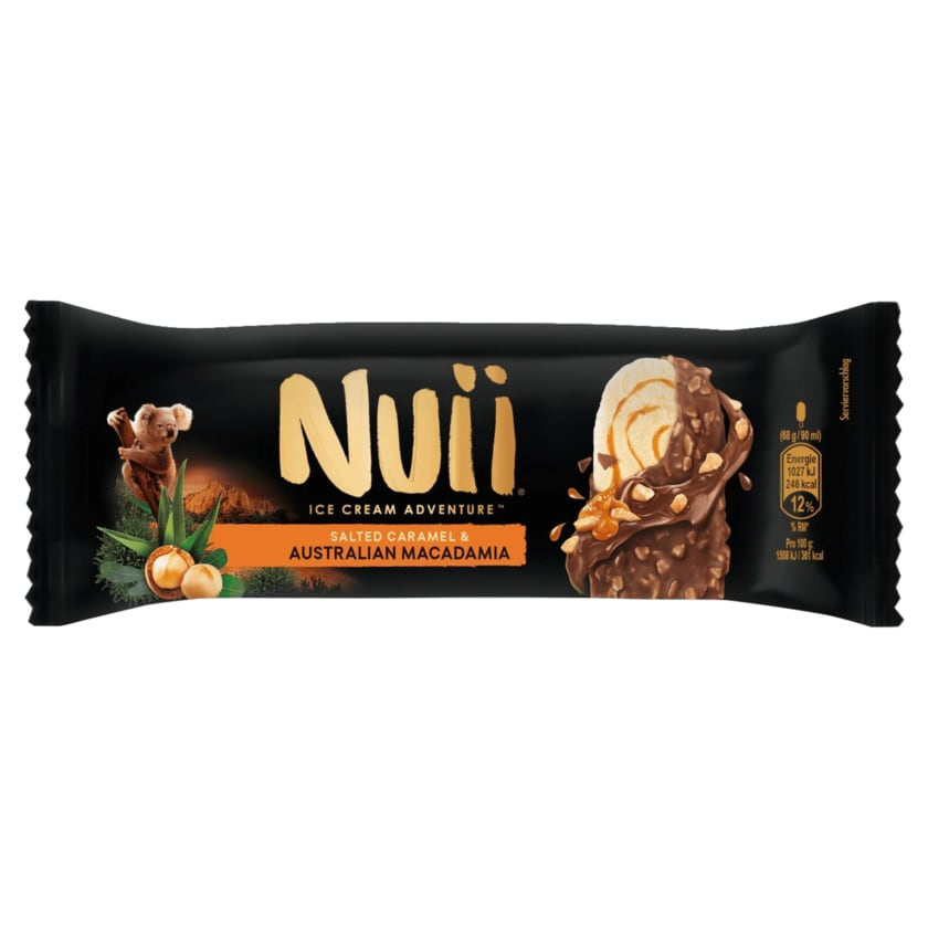 Nuii Eis Salted Caramel & Australien Macadamia 90ml