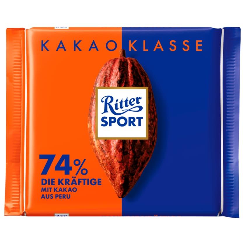 Ritter Sport Schokolade Kakao Klasse 74% Die Kräftige 100g