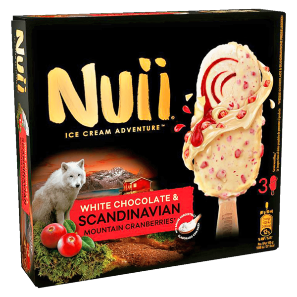 Nuii Eis White Chocolate & Scandinavian Mountain Cranberries 3x90ml