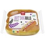 REWE Beste Wahl Hot Dog Rolls Broiche 6 Stück