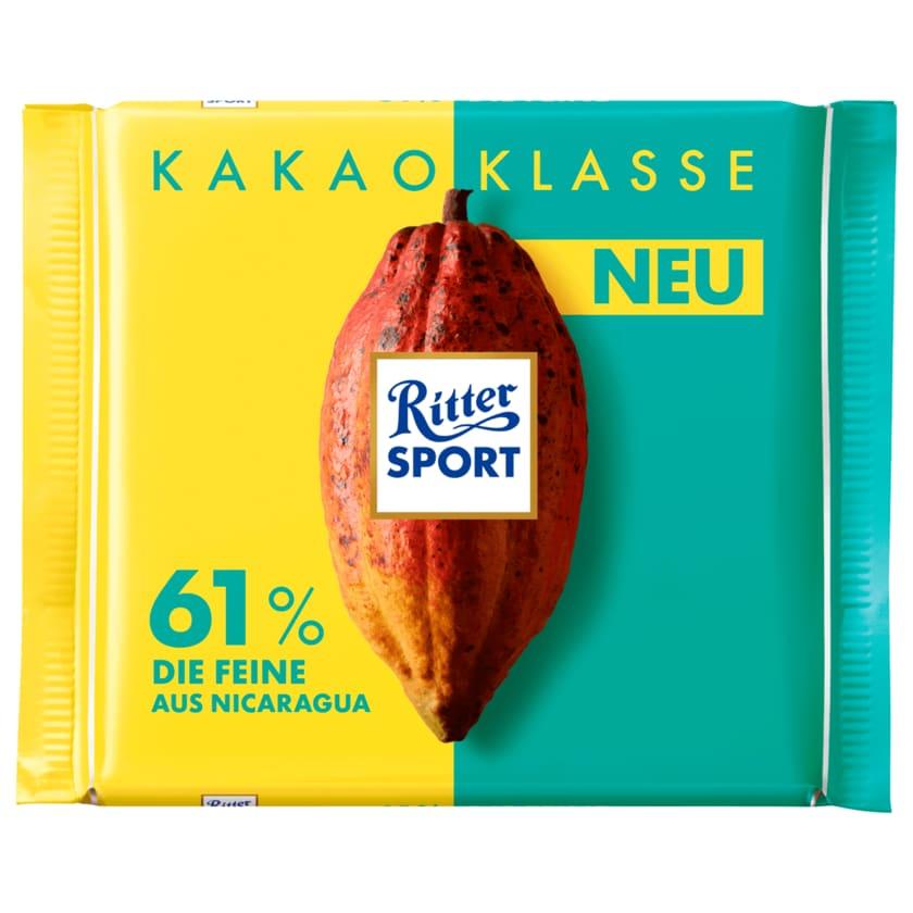 Ritter Sport Schokolade Kakao Klasse 61% Die Feine 100g