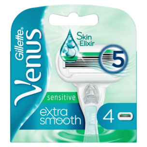 Gillette Venus Klingen Extra Smooth Sensitive 4 Stück