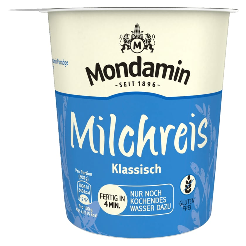 Mondamin Snack Becher Milchreis Klassisch 58g