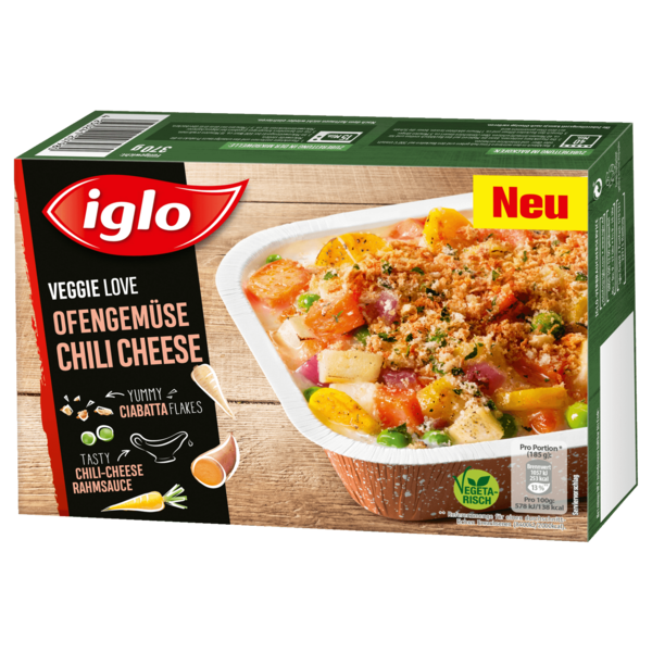Iglo Veggie Love Ofengemüse Chili Cheese 370g