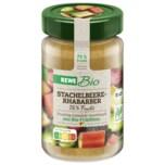 REWE Bio Fruchtaufstrich Stachelbeer-Rhabarber 250g
