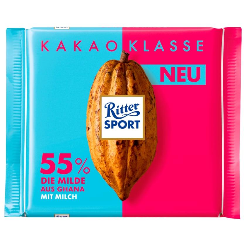 Ritter Sport Schokolade Klasse 55% Die Milde 100g