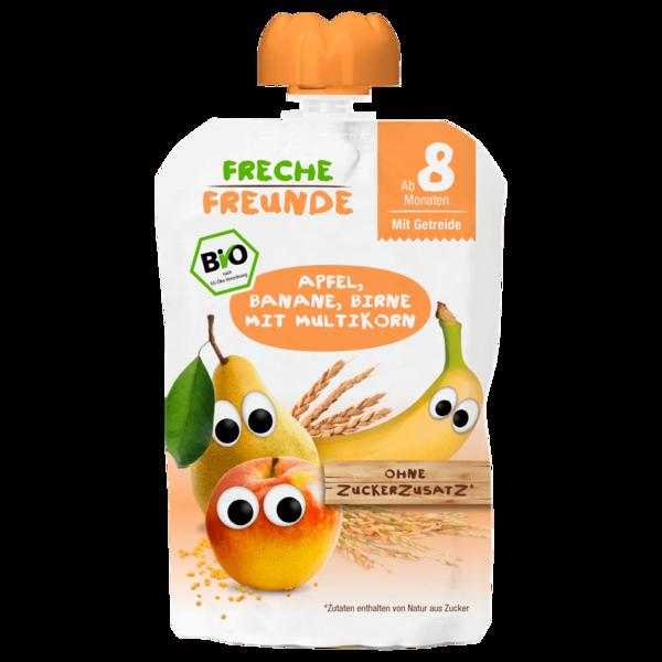 Erdbär Freche Freunde Bio Apfel, Banane, Birne mit Multikorn 100g