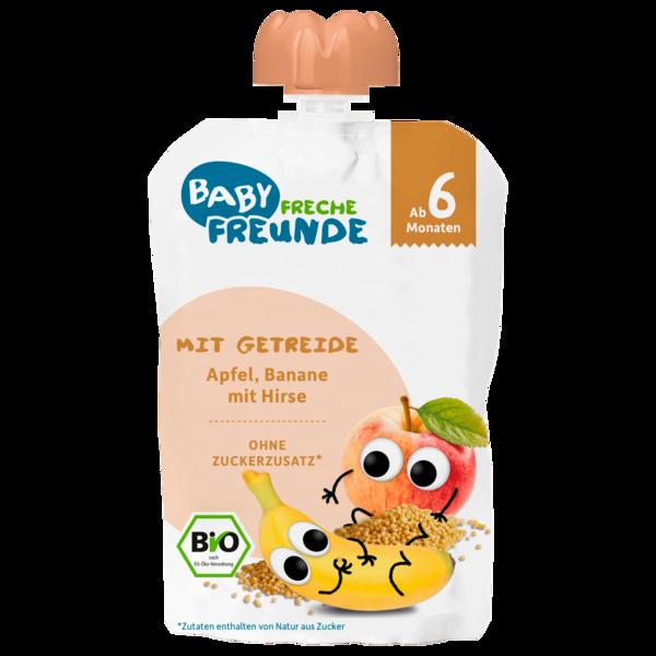 Erdbär Freche Freunde Bio Quetschie Apfel, Banane mit Hirse ab dem 6.Monat 100g