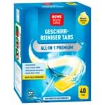 REWE Beste Wahl Geschirrreiniger Tabs All-in-1 Premium 40 Tabs 850g