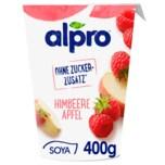 Alpro Soja-Joghurtalternative Himbeere Apfel vegan 400g
