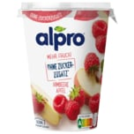Alpro Soja-Joghurtalternative Himbeere Apfel mehr Frucht & Ohne Zuckerzusatz vegan 400g