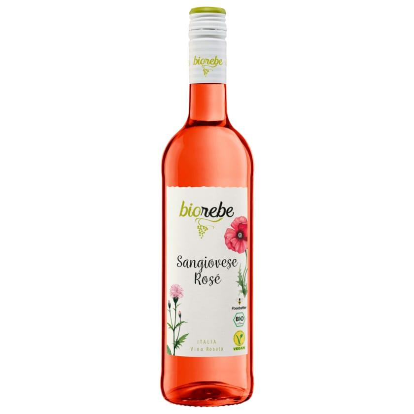 Biorebe Roséwein Bio Sangiovese Rosé halbtrocken vegan 0,75l