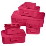 Frischhaltedosen Set 7-tlg. Pink