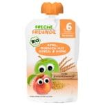 Freche Freunde Bio Apfel, Pfirsich mit Dinkel & Hirse 100g